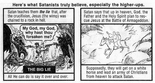 jesus loves devil cartoon